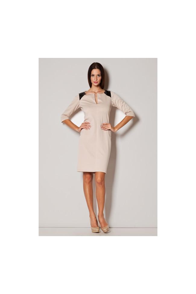 Dámské šaty Figl M222 béžová