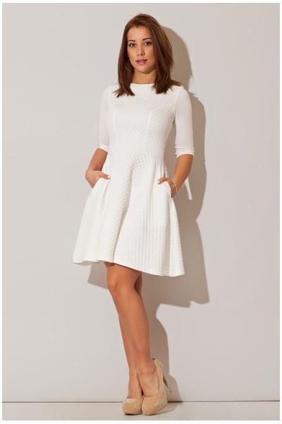 Dámské šaty Figl M235 bílé