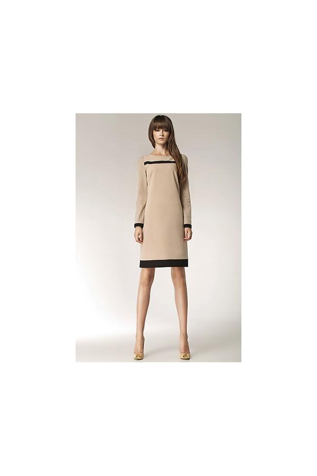 Dámské šaty Nife S40 béžové