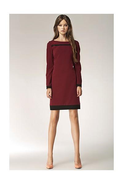 Dámské šaty Nife S40 bordo