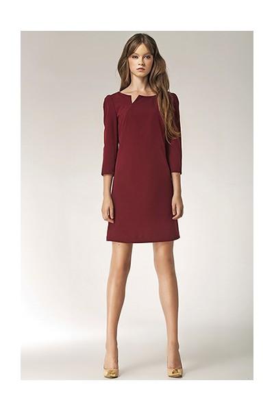 Dámské šaty Nife S39 bordó
