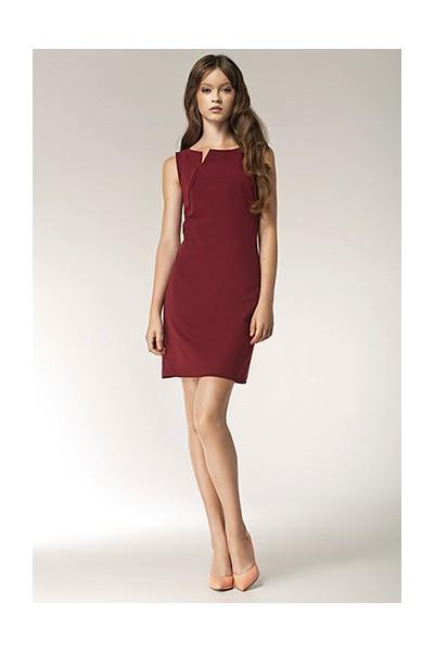 Dámské šaty Nife S37 bordó