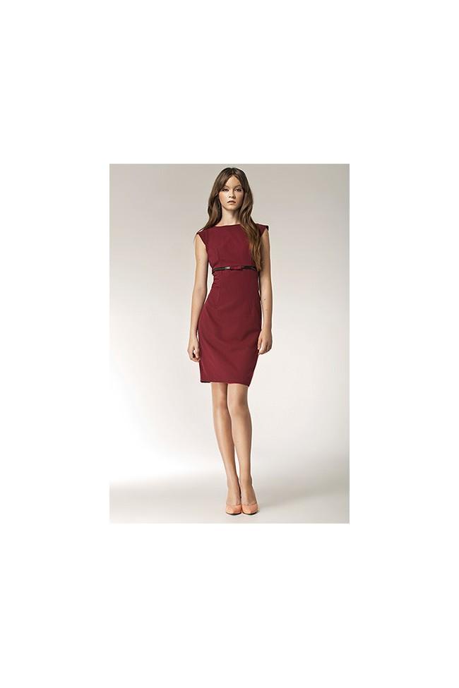 Dámské šaty Nife S36 bordó