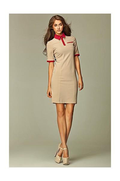 Dámské šaty Nife S29 béžové
