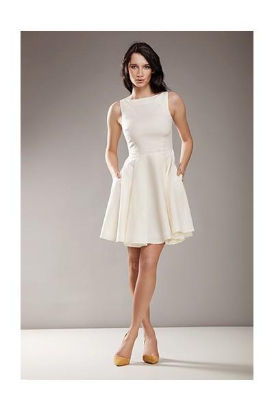 Dámské šaty Nife S170 krémové