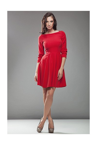 Dámské šaty Nife S19 červená - výprodej velikost 38