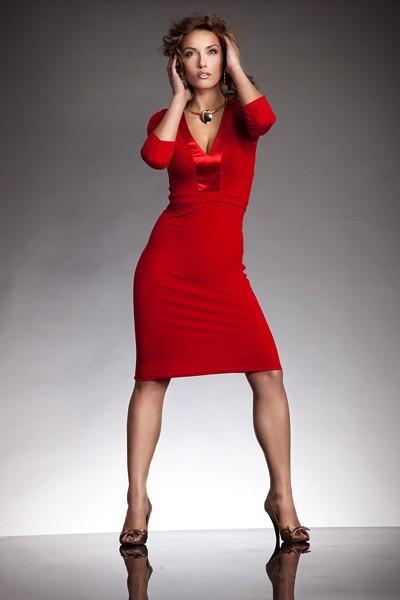 Dámské šaty Nife S08 červené