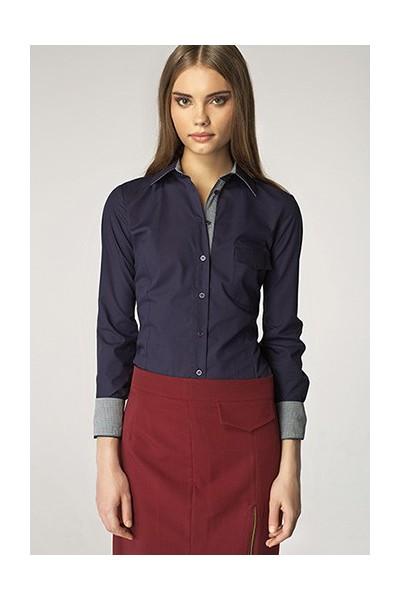 Dámská košile Nife K36-modrá+kostička