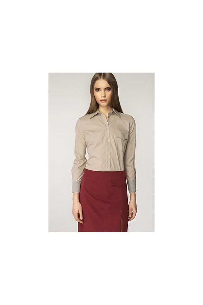 Dámská košile Nife K36-béžová+kostička