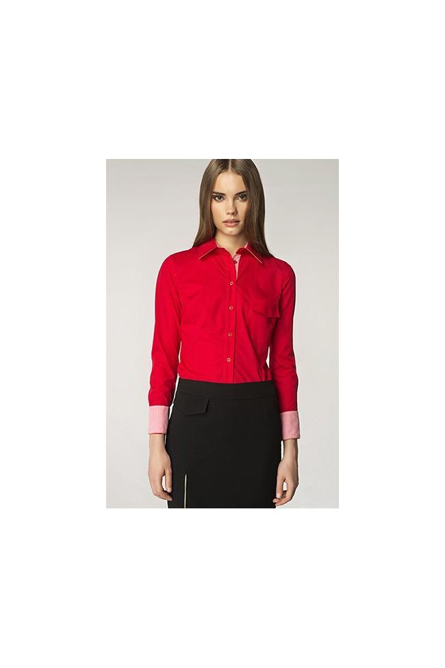 Dámská košile Nife K36-červená