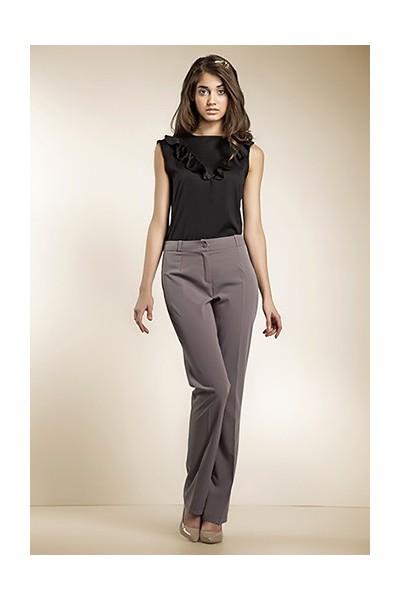 Dámské kalhoty Nife Sd 04 - moka -  šedé