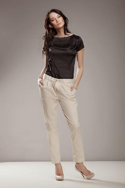Dámské kalhoty Nife Sd 01 - béžové