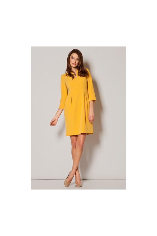 Dámské šaty Figl  M 249 žluté