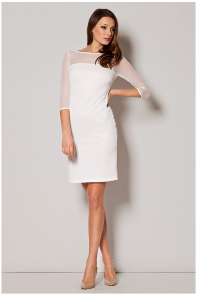 Dámské šaty Figl  M 237 ecru