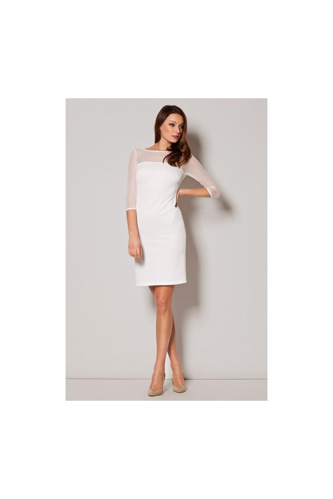 Dámské šaty Figl  M 237 bílé