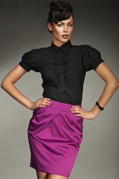 Dámská košile Nife K 27-černá