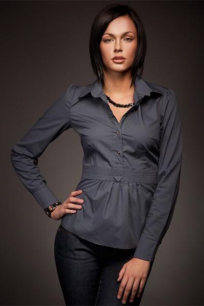 Dámská košile Nife K 23-tmavě šedá