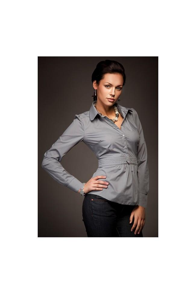 Dámská košile Nife K 23-šedá