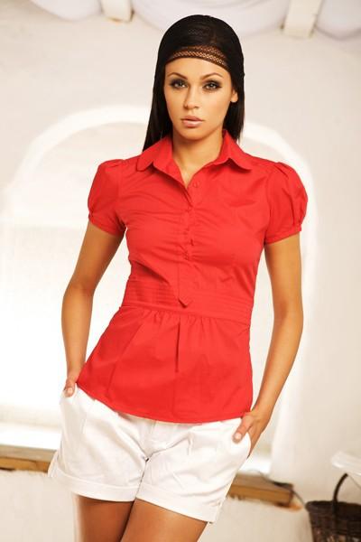 Dámská košile Nife K 17-červená