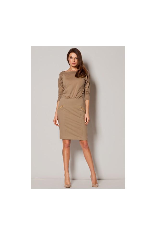 Dámske šaty Figl M 252 béžové