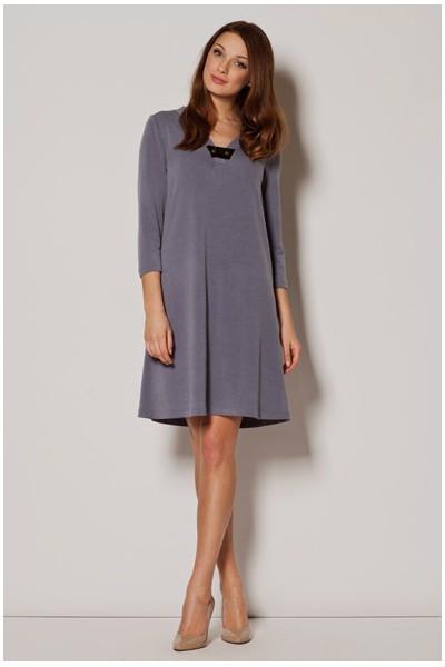 Dámské šaty Figl  M 239 šedé