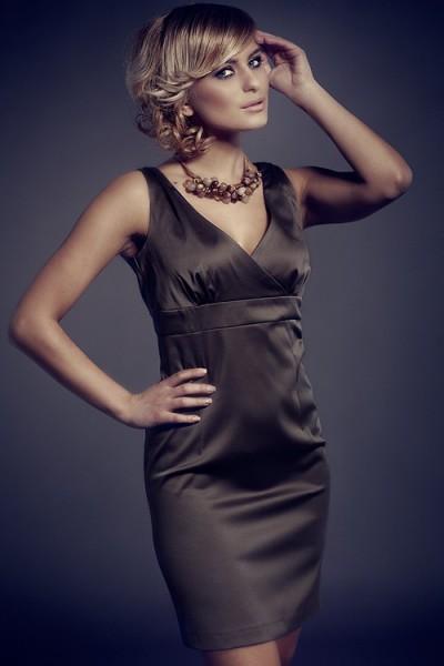 Dámské šaty Figl 51 olivové