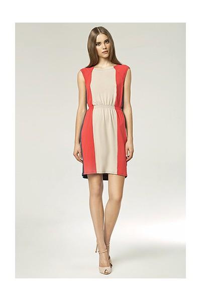 Dámské šaty Nife S47 béžové