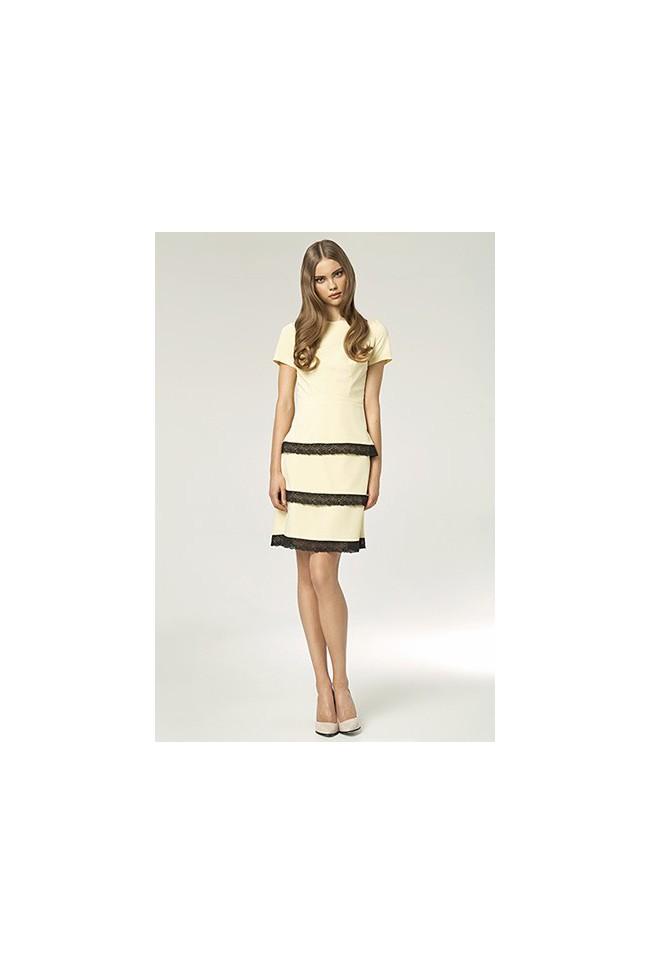 Dámské šaty Nife S43 žluté
