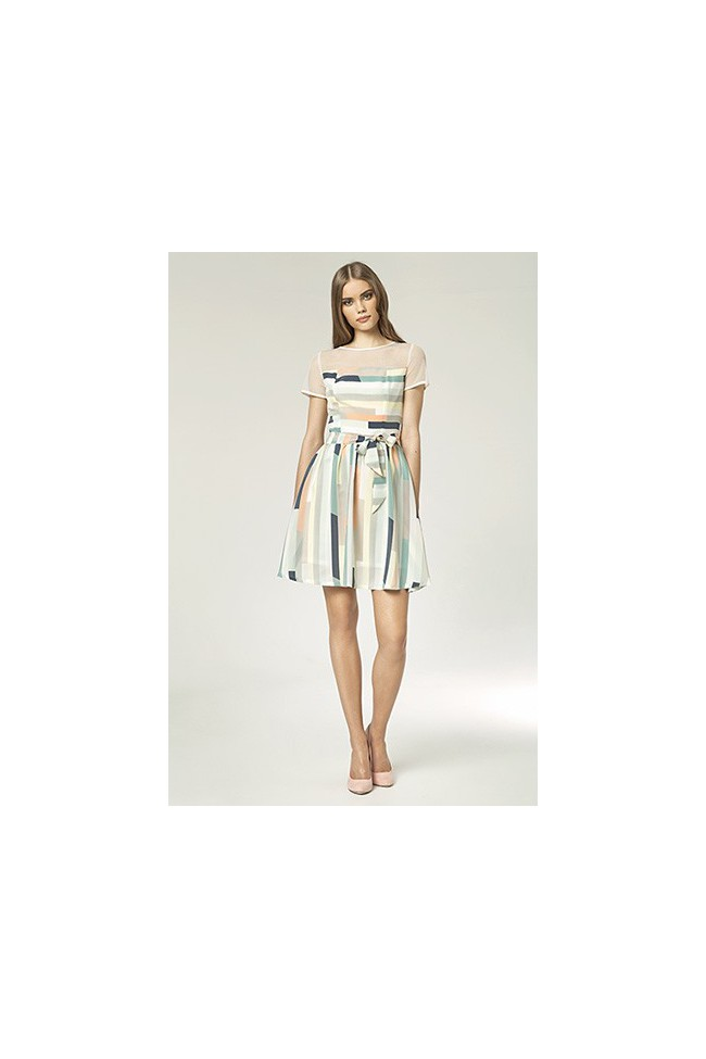 Dámské šaty Nife S 44 - vzorované