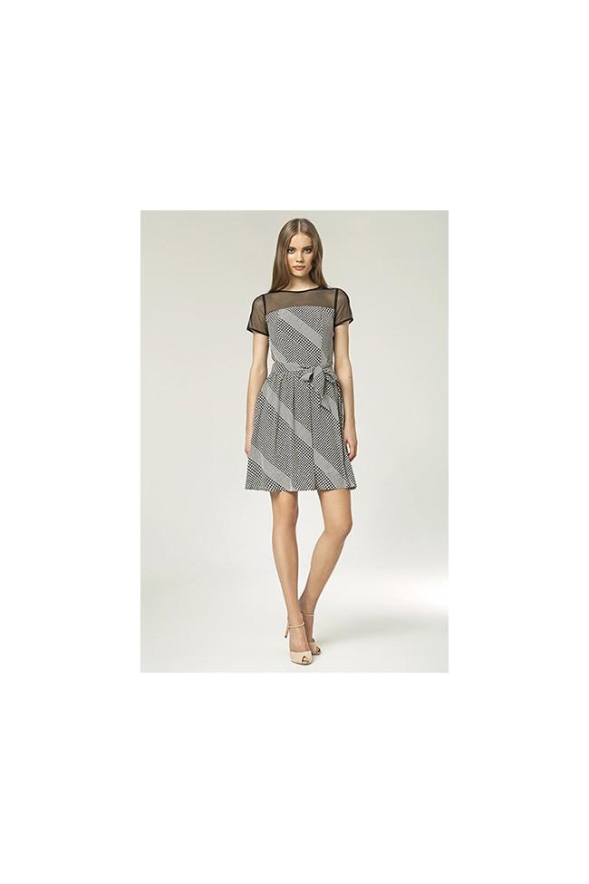 Dámské šaty Nife S 44 - puntíkaté