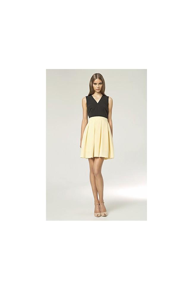 Dámské šaty Nife S42 žluto-černé