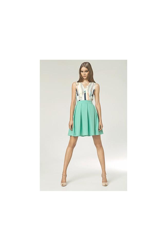 Dámské šaty Nife S42 máta-vzor