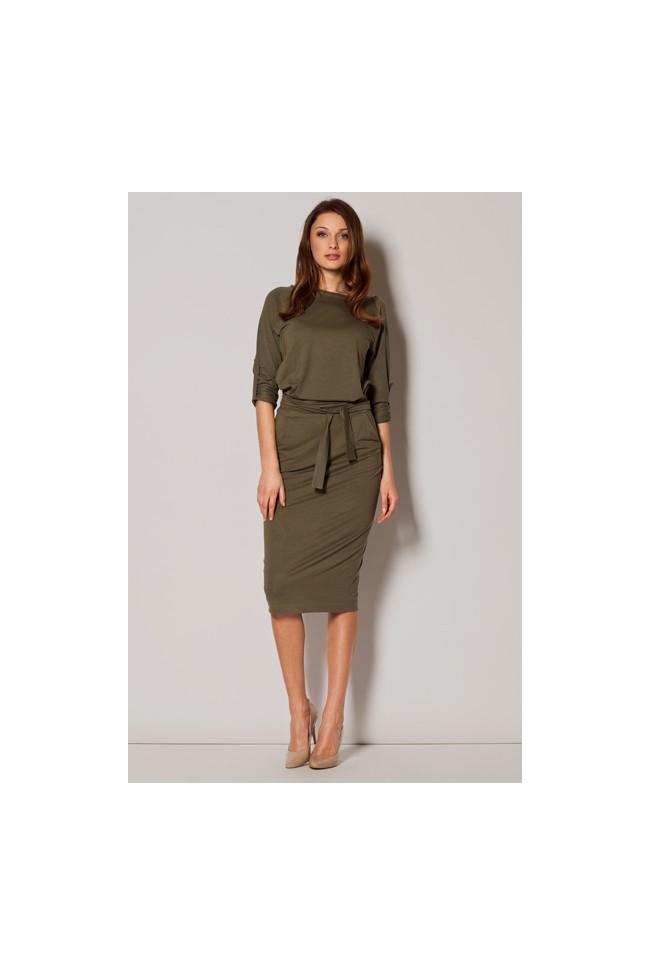 Dámské šaty Figl  M 246 olivové
