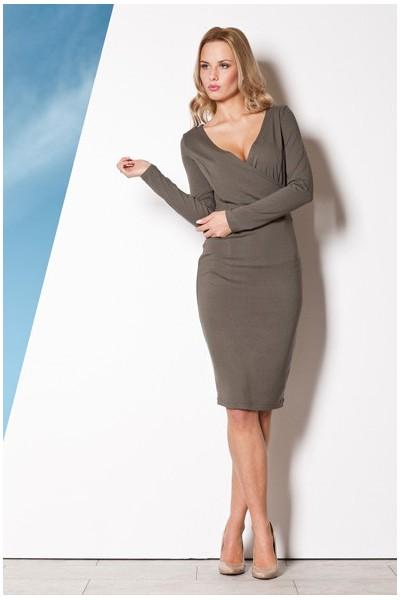Dámské šaty Figl  M 264 olivové