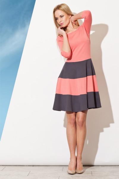 Dámské šaty Figl  M 279  korálové