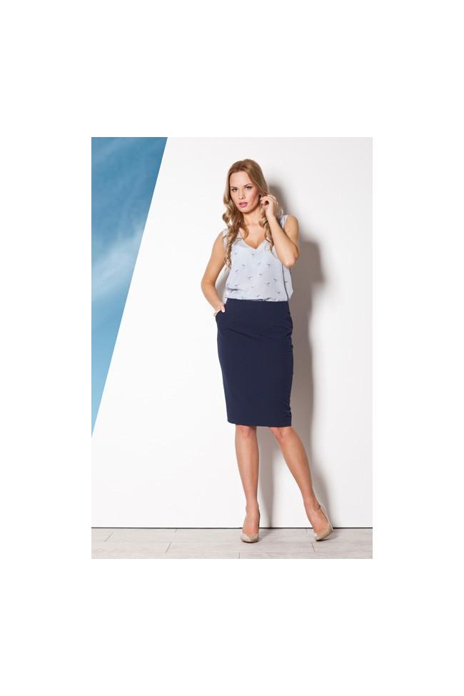 Dámská sukně Figl M260 granátová