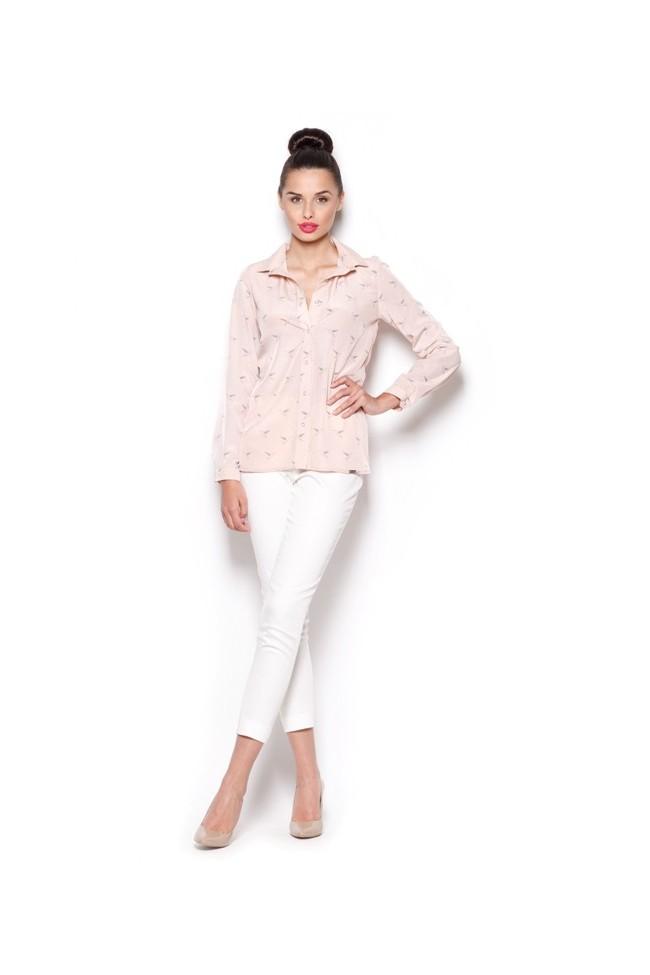 Dámská košile Figl M 284 růžová