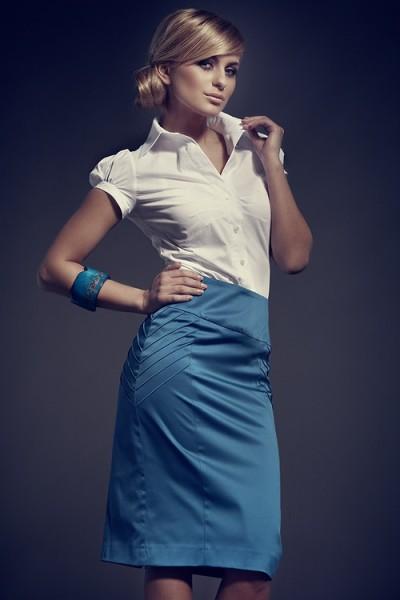 Dámská sukně Figl 46 modrá