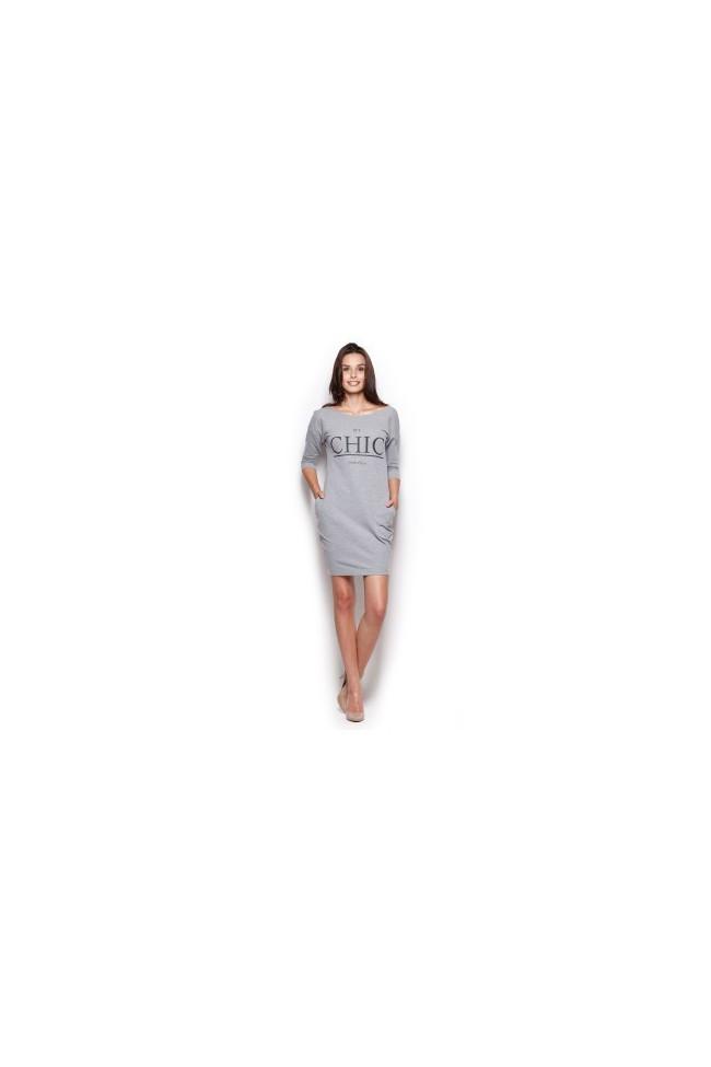 Dámské šaty Figl  M 312 šedé