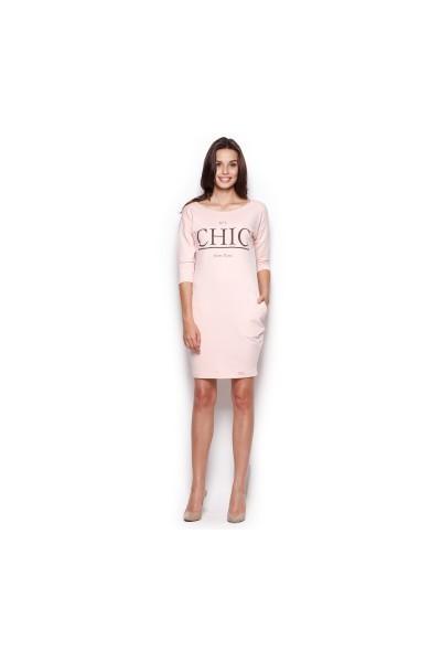 Dámské šaty Figl  M 312 růžová