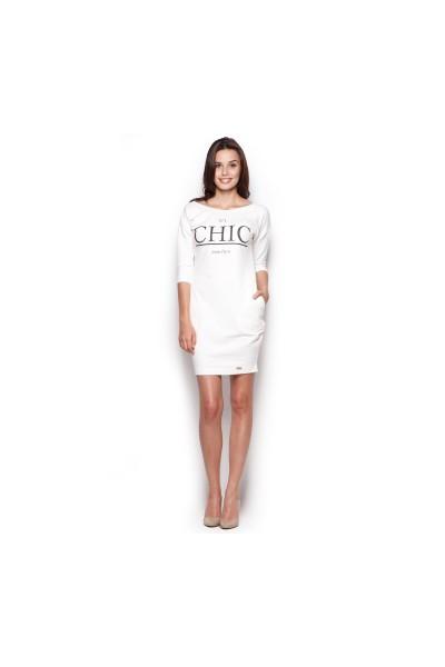 Dámské šaty Figl  M 312 ecru