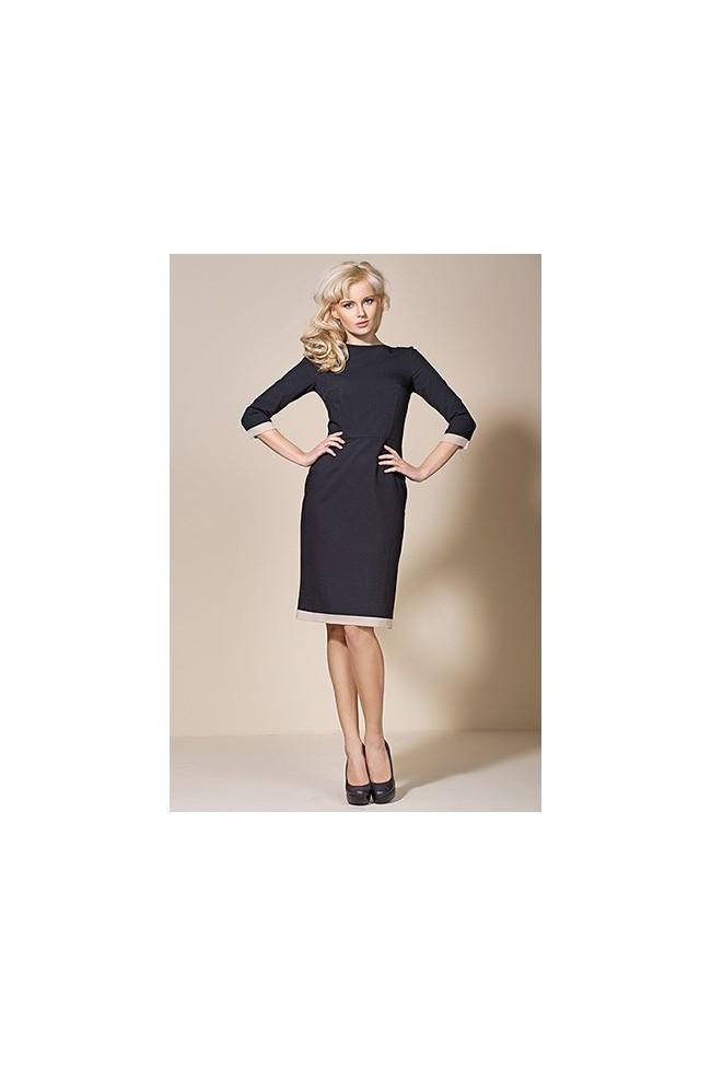 Dámské šaty Alore al03 černá-béžová