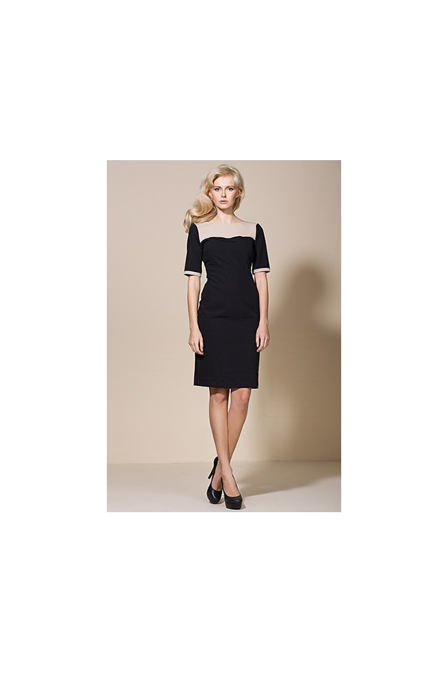 Dámské šaty Alore al04 černá - béžová
