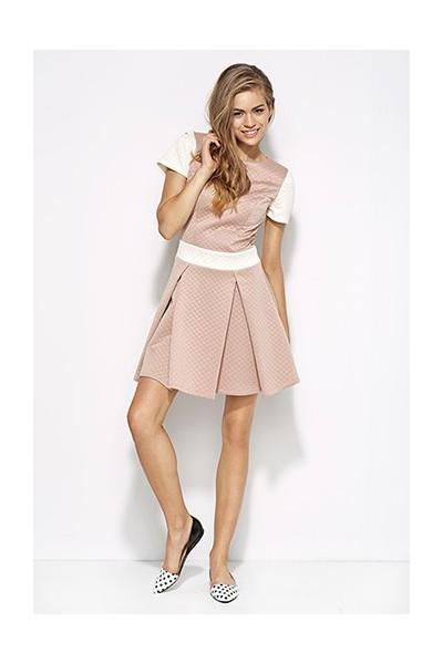 Dámské šaty Alore al20 růžová-ecru