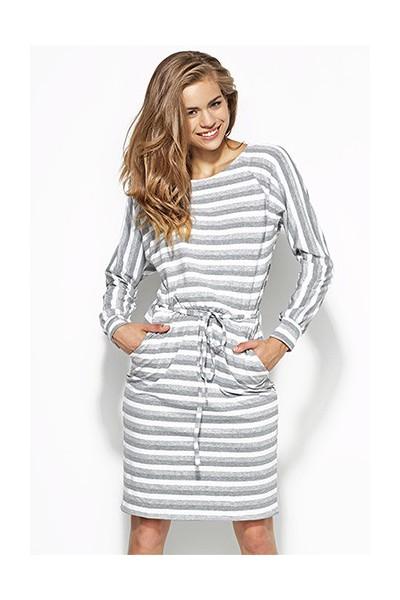 Dámské šaty Alore al23 šedé-bílé