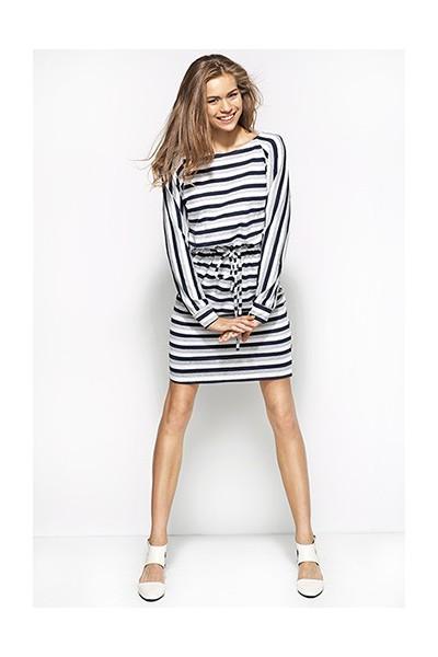 Dámské šaty Alore al23 šedé-bílé-granát