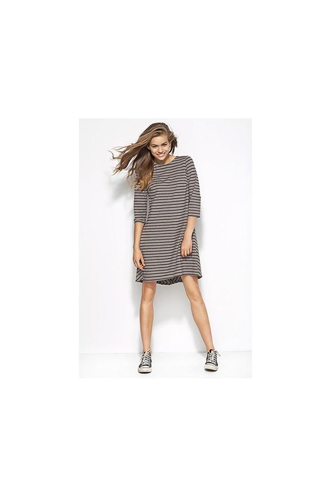 Dámské šaty Alore al25 šedé-proužek