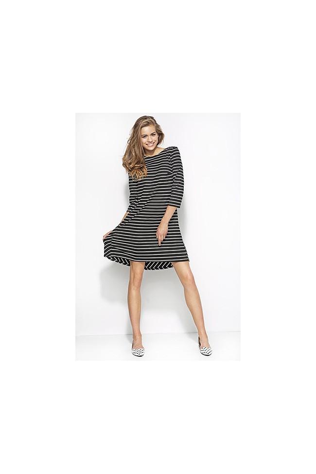 Dámské šaty Alore al25 černé-proužek