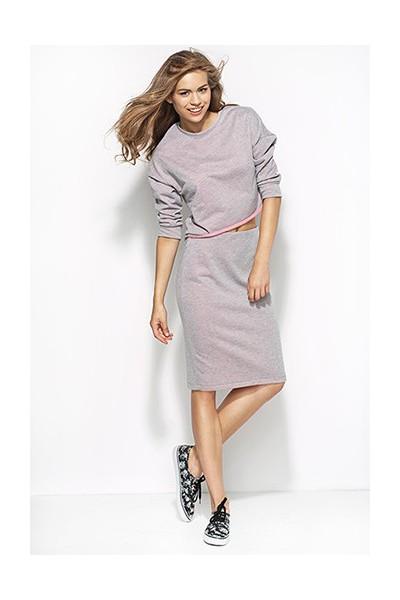 Dámská sukně Alore al18 šedá-růžová