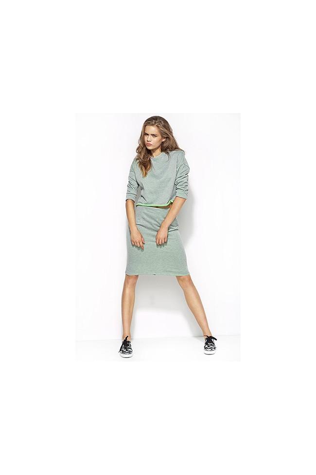 Dámská sukně Alore al18 šedá-zelená